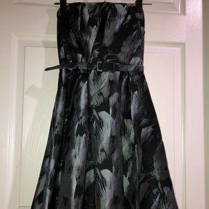 Strapless Black & Silver Dress
